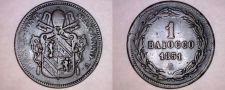 Buy 1851-VR Italian States Papal States 1 Biaocco World Coin