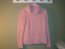Buy Liz & Co Ultra Soft Pink Turtleneck Sweater Women's Size S