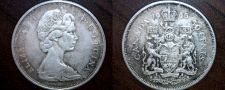 Buy 1965 Canadian Half Dollar 50 Cents Canada Silver World Coin