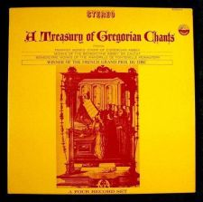Buy A TREASURY OF GREGORIAN CHANTS ~ Winner French Grand Prix Du Disc *** 4 LP BOX