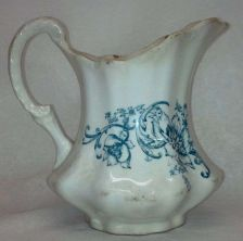 "Buy Vintage LAUGHLIN *American Beauty* Cream Pitcher (5"") / Original Blue Artwork"
