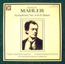 Buy GUSTAV MAHLER ~ Symphony No. 4 in G Major A. Gibson / Scottish National LP