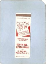 Buy New York Wappinger Falls Matchcover South Ave Restaurant 69 South Ave ny_b~2132