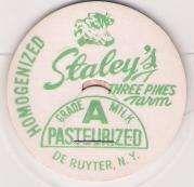 Buy New York De Ruyter Milk Bottle Cap Name/Subject: Staley's Three Pines Farm~261