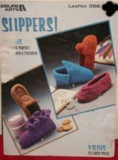 Buy Crochet pattern booklet by Leisure Arts makes 9 different style Slippers