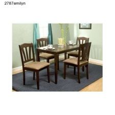 Buy Wood Dining Room Set Kitchen Table Chairs Black or Espresso 5 pc. Classic Modern