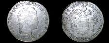 Buy 1837-B Austrian 20 Kreuzer World Silver Coin - Austria