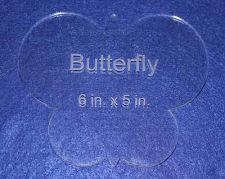 "Buy Butterfly 6"" x 5"" ~ 1/4"" Thick - Clear Acrylic - Long Arm or Hand Sew"