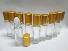 Buy 50 Empty Roll on Glass Bottles Travel Refill Men Women Fragrance Oil Cologne 5ml