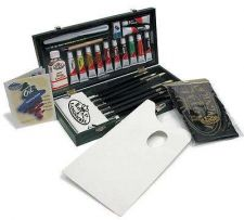 Buy Oil Paints Color Painting Art Supplies Box Set Professional Artist Brushes Liner
