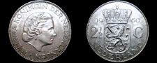 Buy 1960 Netherlands 2 1/2 Gulden World Silver Coin