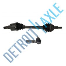Buy 2 Piece Kit Set - Front Passenger Side CV Axle Shaft + NEW Outer Tie Rod