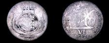 Buy 1807 German States Wurttemberg 6 Kreuzer World Silver Coin