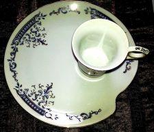 Buy Vintage RENAISSANCE Gift Set 4 Snack Plates 4 Tea Cups Japanese White CeraStone