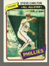Buy 1980 Topps Steve Carlton Philadelphia Phillies #210 Baseball Card