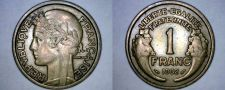Buy 1932 French 1 Franc World Coin - France