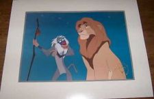 Buy Disney Lion King Simba & Rafiki monkey commerative Gold Seal Lithograph