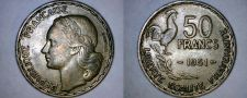 Buy 1951 French 50 Franc World Coin - France