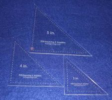 "Buy Laser Cut Quilt Templates- 3 Piece Triangle 3"",4"",5"" - Clear Acrylic 1/8"""
