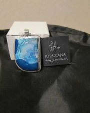 Buy NWT Khazana Pendant Druzy Geode Large .925 Sterling Silver Blue Shades Teal New