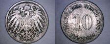 Buy 1892-D German 10 Pfennig World Coin - Germany
