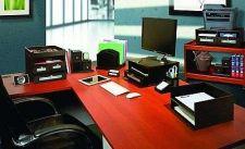 Buy Wood Collection Files 4-Shelf Office Desktop Organizer Storage Document Holder