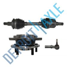 Buy Front Passenger CV Axle Shaft w/ ABS + Tie Rod + Wheel Hub and Bearing Assembly