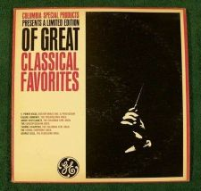 Buy General Electric / GREAT CLASSICAL FAVORITES ~ DOUBLE Stereo LP