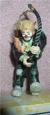 Buy Emmett Kelly Jr. rope climber circus clown Flambro MIB ornament