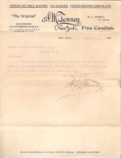 Buy New York New York City Letterhead / Billhead 'The Original' A. M. Tenney F~71