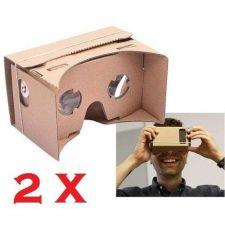 Buy 2 X Unassembled DIY Google Cardboard Smart Phone Virtual Reality 3D Glasses