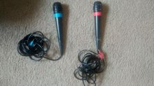 Buy Singstar 2 Microphones Mic Blue & Red Playstation 3