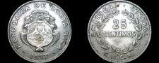 Buy 1937 Costa Rican 25 Centimos World Coin - Costa Rica