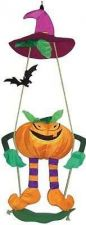 Buy In The Breeze Pumpkin Swingerz Outdoor Hanging Decor Halloween Holiday Decor Out