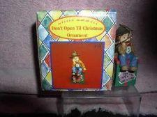 Buy Little Emmett Kelly Jr. circus clown sitting on Package ornament