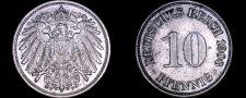 Buy 1908-F German 10 Pfennig World Coin - Germany