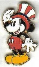 Buy Disney pie-eyed Mickey Mouose full body Patriotic with hat pin/pins