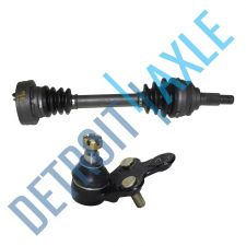 Buy 2 pc Set - Front Driver or Passenger CV Axle Shaft + Lower Ball Joint - w/ ABS