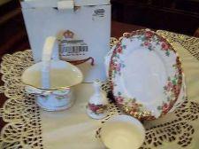 Buy china old english garden handle cake plate,royal albert handle basketweave /bow