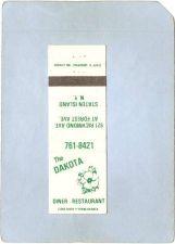 Buy New York Staten Island Matchcover The Dakota Diner Restaurant 921 Richmond~74