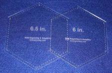 "Buy Laser Cut Quilt Templates-2 Pc Set - 6 Inch & 6.5 Hexagons - 1/8"""
