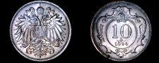 Buy 1894 Austrian 10 Heller World Coin - Austria