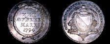 Buy 1794-B Swiss Cantons Zurich 1/2 Thaler World Silver Coin - Switzerland
