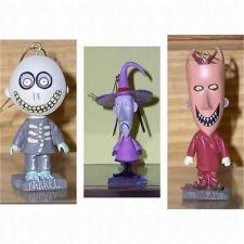 Buy Lock ShocK & Barrel Nightmare Before Christmas 3 Bobble Heads