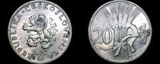 Buy 1937 Czech 20 Haleru World Coin - Czechoslovakia