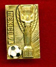 Buy VINTAGE RARE PINBACK WORLD CUP 1970.MEXICO.FIFA.***