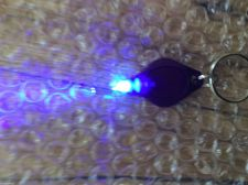 Buy Lot of TWO - UV Black Light LED Money Detector Keychain FAST SHIPPING USA Seller
