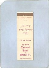 Buy New York Rhinebeck Matchcover The First National Bank Of Rhinebeck N Y w/S~2109