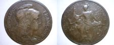 Buy 1899 French 5 Centimes World Coin - France