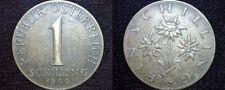 Buy 1960 Austrian 1 Schilling World Coin - Austria